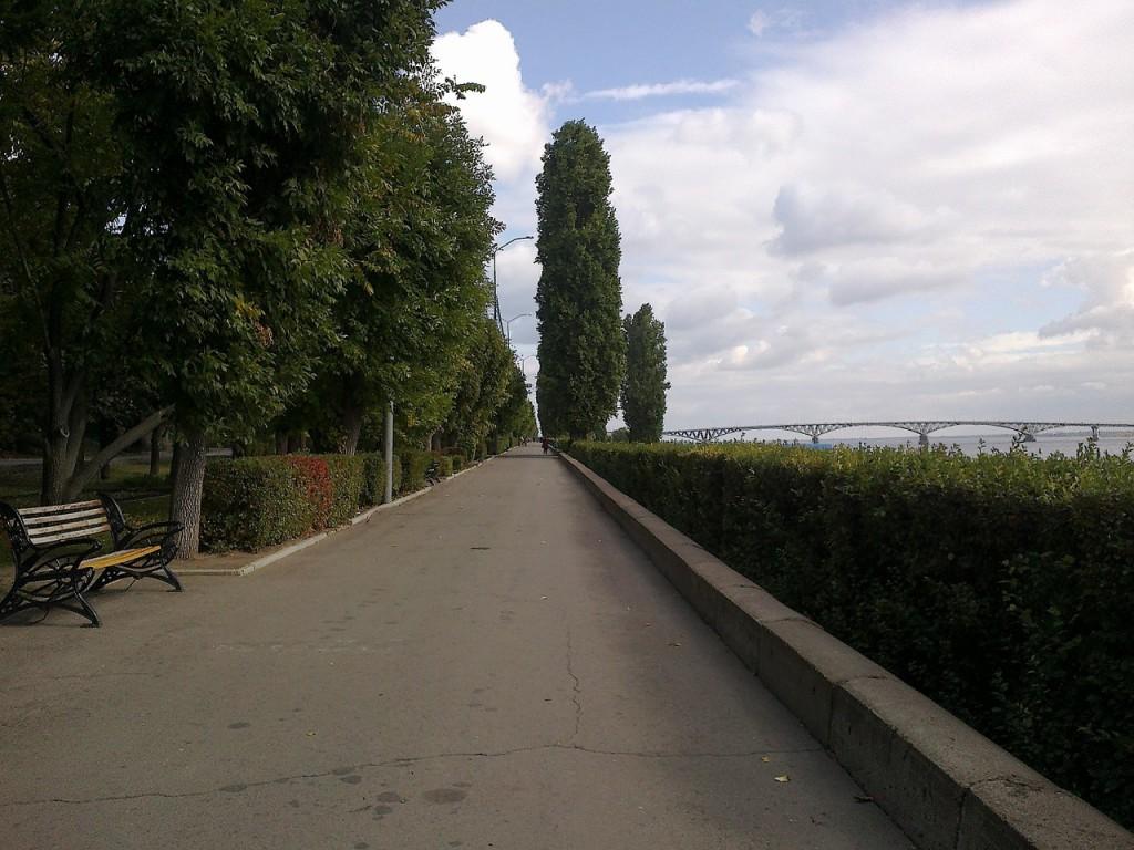 Набережная реки Волги в Саратове