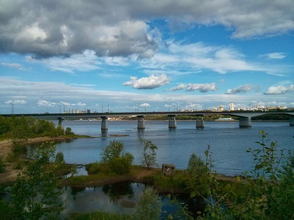 Пермь - мост через реку Кама