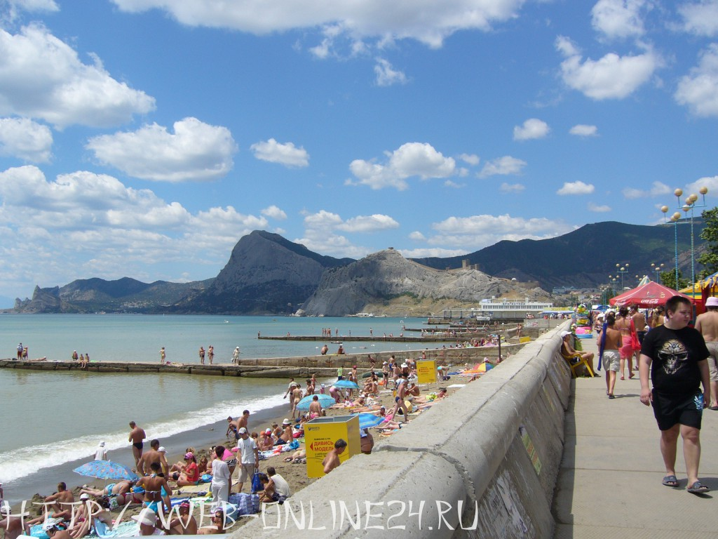 Пляжи и набережная Судака