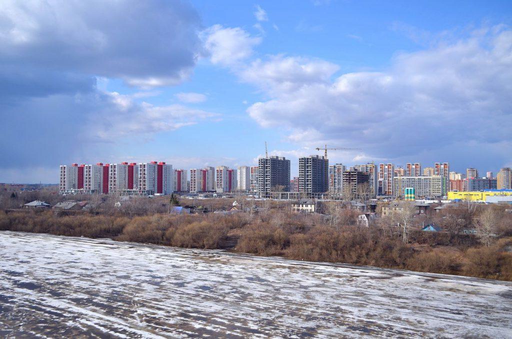 Зимний пейзаж в Тюмени