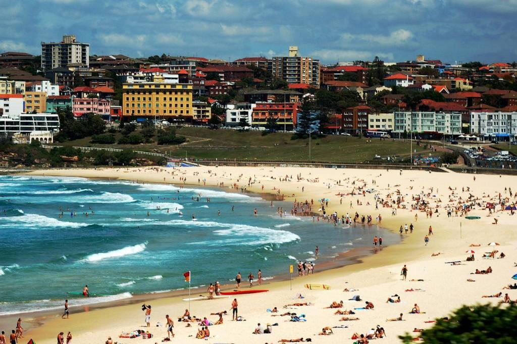 Тихоокеанский пляж Бонди в Сиднее
