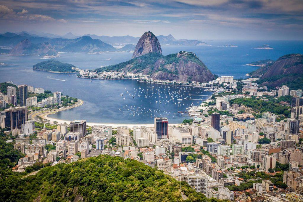 Панорама Рио-де-Жанейро в Бразилии