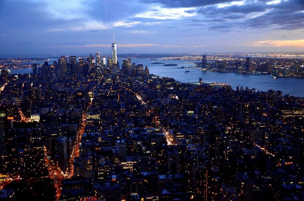 Панорама острова Манхэттен