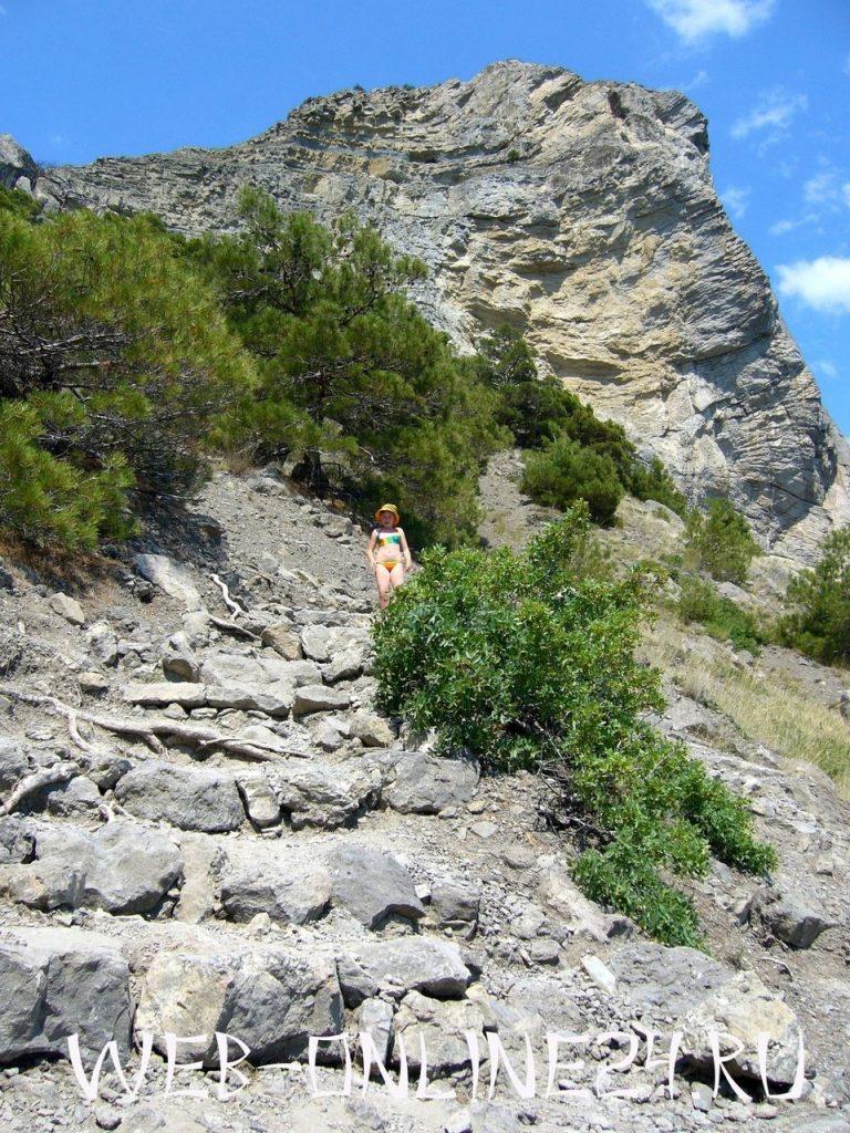 Тропа Голицына возле горы Коба-Кая