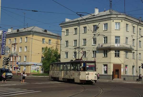Ангарский трамвай на улицах города