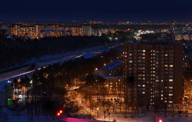 Панорамный вид на центральную часть Королёва