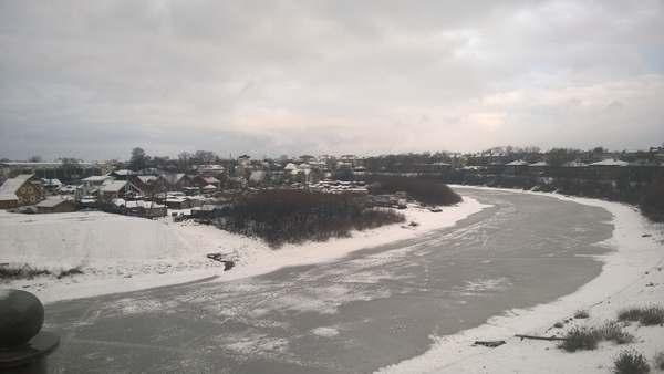 Река Вологда зимой