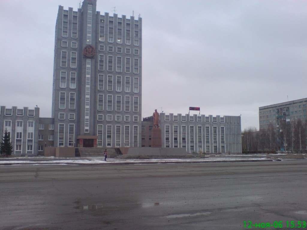 Центральная площадь города Ачинск в Красноярском крае