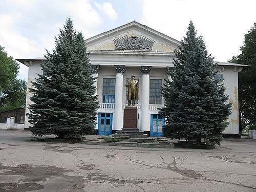 Памятник В.И. Ленину в городе Северск Томская область