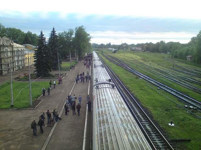 Железнодорожный вокзал города Великие Луки