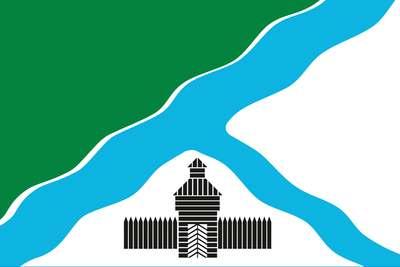 Флаг города Бердск. Новосибирская область.