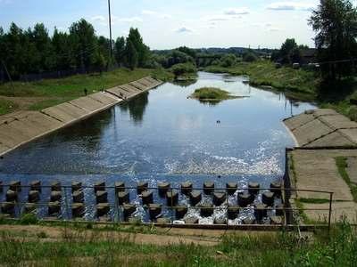 Плотина ГЭС в Кудымкаре