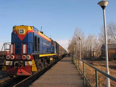 Железнодорожная станция в городе Краснокаменск. Забайкальский край.