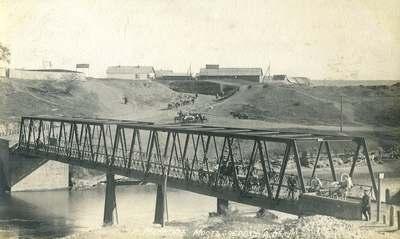 Мост через реку Белую в Майкопе. 1911 год.