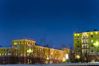 Ленинский проспект в Норильске