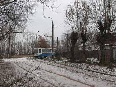 Трамвай в городе Ногинске. Московская область.