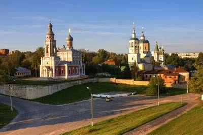 Соборная гора в городе Серпухов. Московская область.