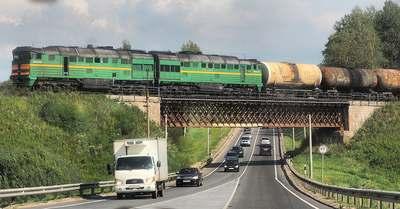 Железнодорожный мост на участке Зубцов Ржев