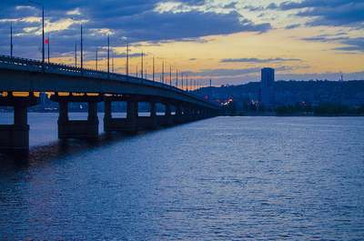 Саратовский мост в городе Энгельс