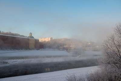Зимний Днепр в Смоленске