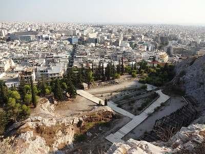 Греция панорама Афин